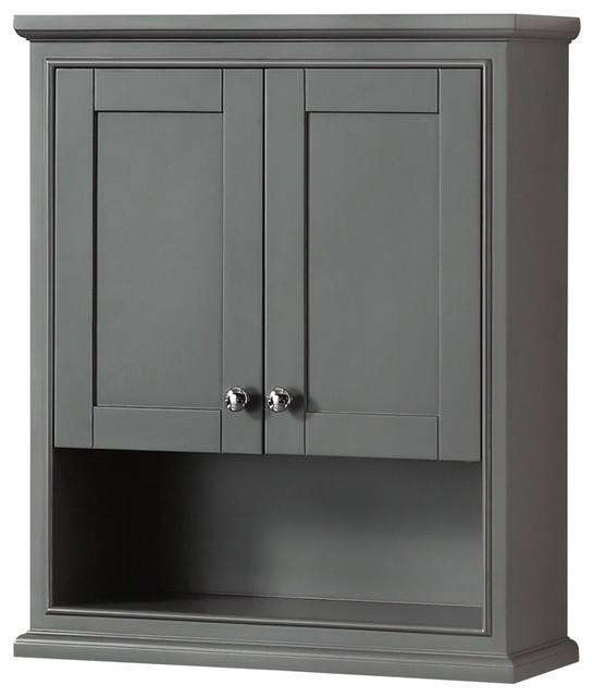 Deborah Bathroom Wall Mounted Storage, Black Bathroom Storage Cabinet