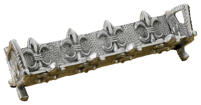 KINDWER Fleur-De-Lis Cracker Stand Silver