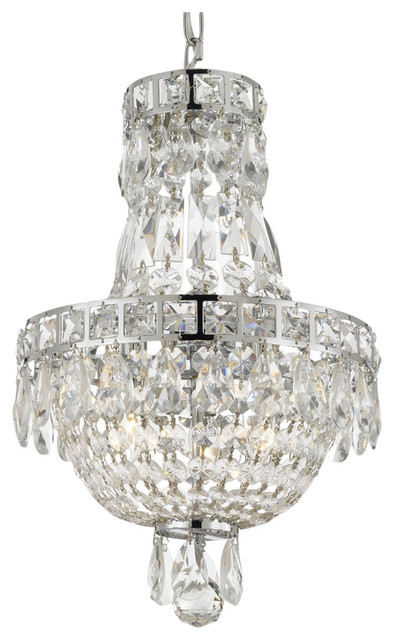 French Empire Crystal Chandelier Chandelier 3 Light 15