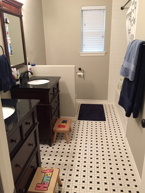 What Color White Should We Paint The Bathroom Walls And Vanities
