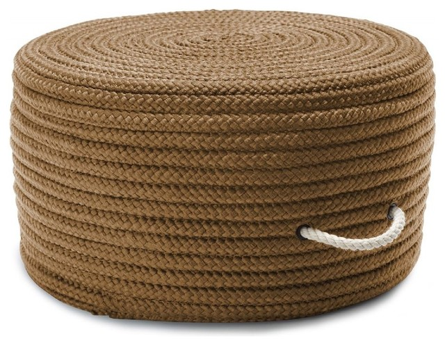 "Braided Simply Home Solid Pouf Pouf/ottoman, Cafe Tostado, Round 20""."