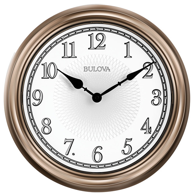 Bulova Light Time Day And Night, Indoor/Outdoor Wall Clock, Champagne Case