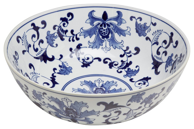 14 Blue And White Bowl