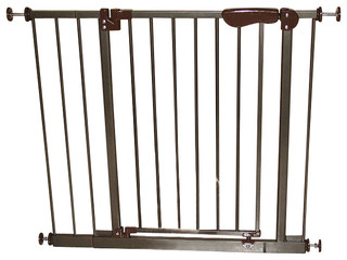 auto close pressure mounted pet gate with 2 extensions transitional dog gates by crown pet. Black Bedroom Furniture Sets. Home Design Ideas