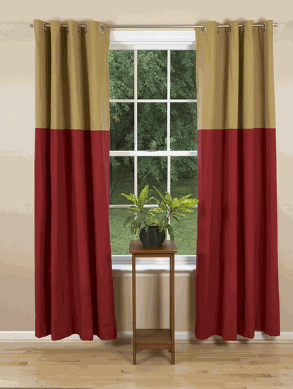 Grommet Curtains - Festive contemporary curtains