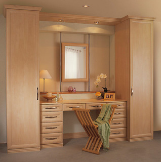 Bespoke bedroom dressing table for Dressing table cabinet