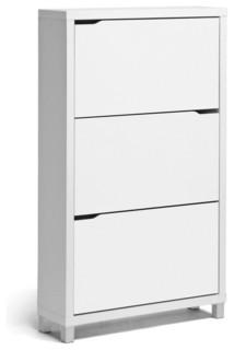 Simms Modern Shoe Cabinet - Modern - Shoe Storage - by Baxton Studio