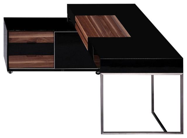Image of: Office Desk Walnut For Nice Office Desk Walnut Bdi Sequel Modern Return