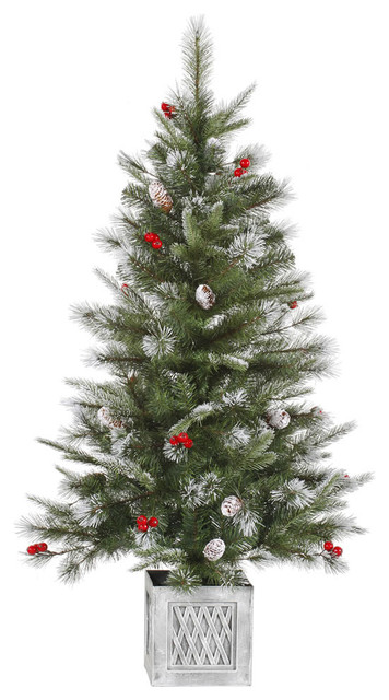 Real Flocked Christmas Trees On Sale