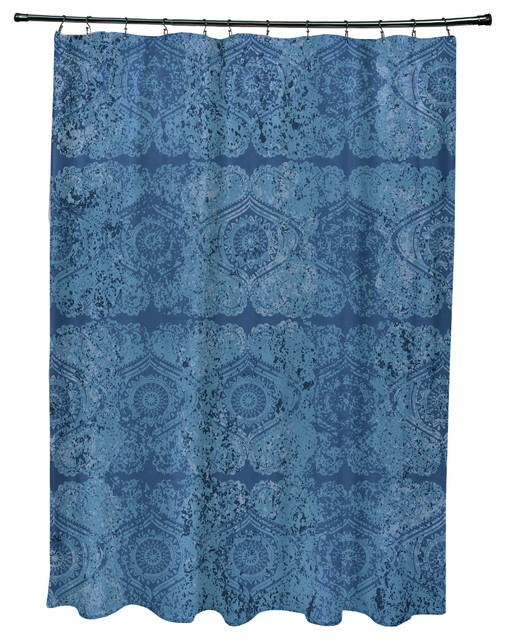 Patina Geometric Print Shower Curtain Shower Curtains By E By Design