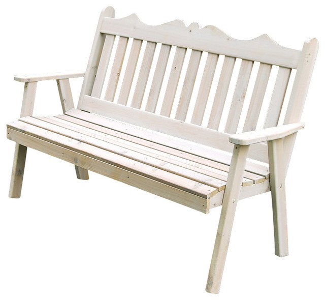 Pleasing 4 Cedar Garden Bench Royal English Style Natural Stain Bralicious Painted Fabric Chair Ideas Braliciousco