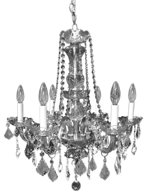 Affordable Home Victorian Design 6Light Chrome Crystal Chandelier – Victorian Chandelier