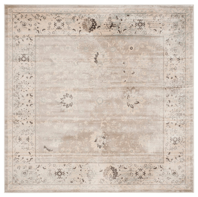 Modern Rugs Vintage: Safavieh Denton Vintage-Style Rug, Light Gray And Ivory