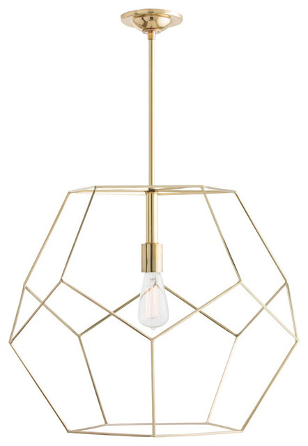 Mara 1-Light Pendants, Polished Brass.