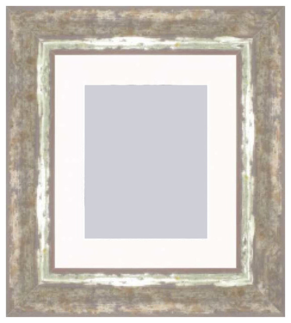 Cocoa With Moss Silver Picture Frame Eclectic Picture Frames