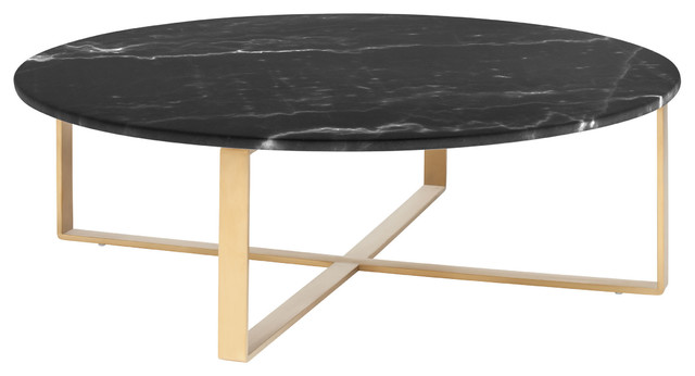 Rosa Coffee Table, Black and Gold contemporary-coffee-tables