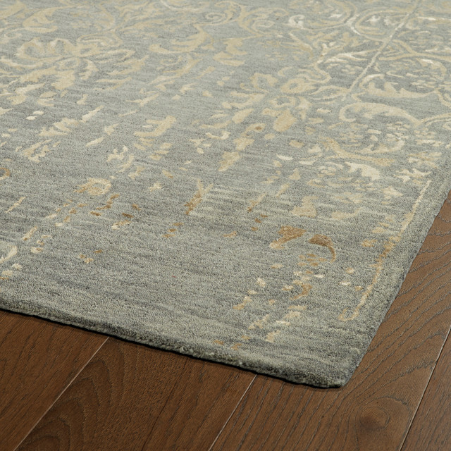 Kaleen Hand Tufted Mercery Bronze Wool And Viscose Rug, 5&x27;x7&x27;9.