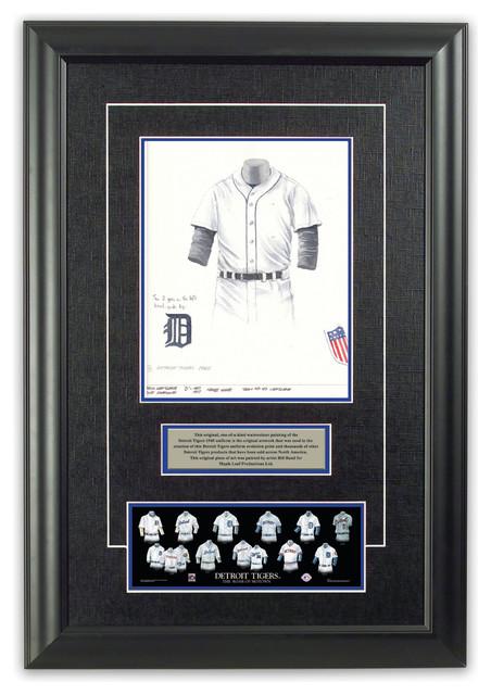 reputable site 99af5 cea02 Original Art of the MLB 1945 Detroit Tigers Uniform