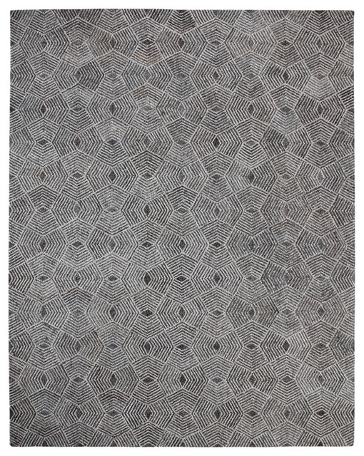 Web Hand-Tufted Wool Rug, 8&x27;x10&x27;.