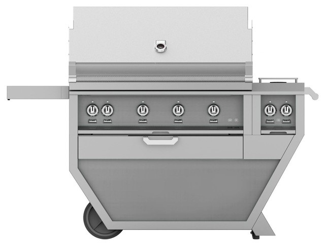 "Freestanding Grill With And One Infrared Burner, Steeletto, Natural Gas, 36""."