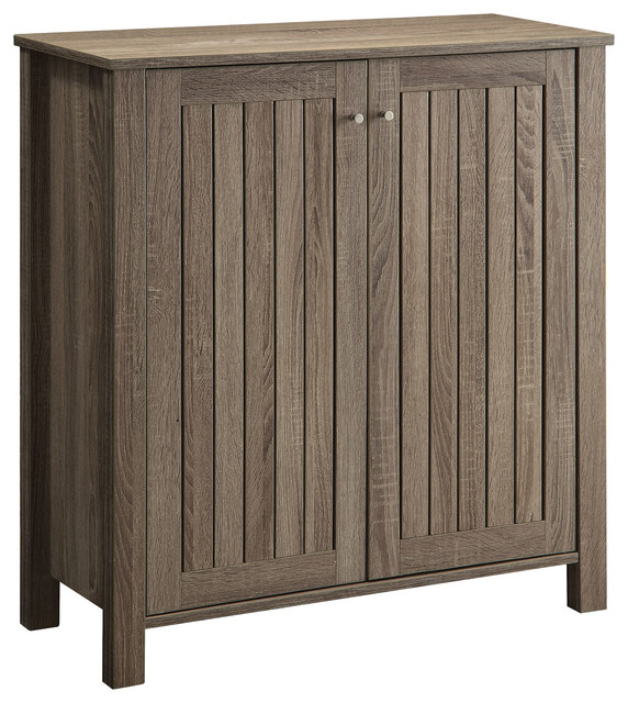 Accent Cabinets Weathered Gray Shoe CabinetAccent Cabinet