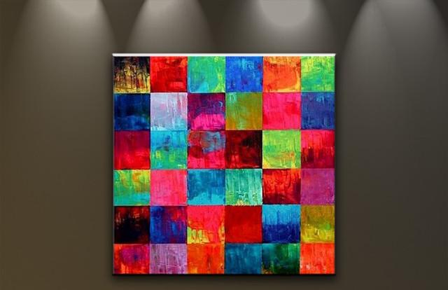 Bilder auf leinwand lgem lde abstrakte kunst handgemalt for Bilder modern art