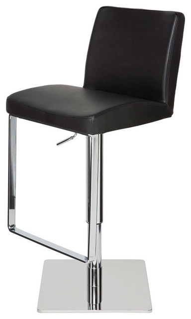 Awesome Matteo Adjustable Bar Stool Modern Contemporary Barstool Black Leather Ibusinesslaw Wood Chair Design Ideas Ibusinesslaworg