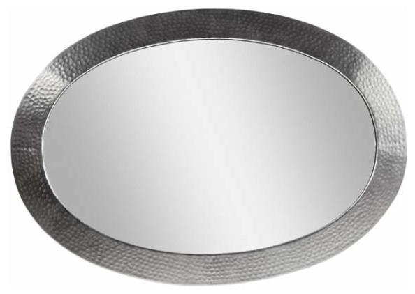 Copper Factory Copper Framed Oval Mirror Copper 26 1 2 X 18 1 2 Inch Contemporary Bathroom