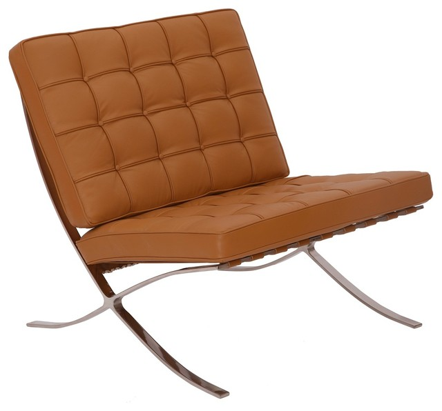 Mlf barcelona chair real leather superior craftsmanship for Chaise lounge indoor chair