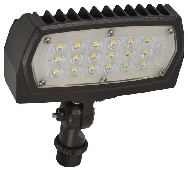 Utility LED 15W Flood-Light, Bronze Finish