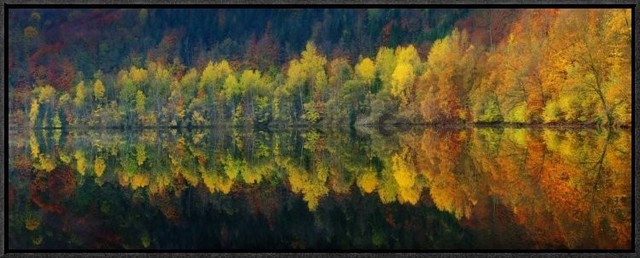 """autumnal Silence"" Artwork, 30""x11.7""."