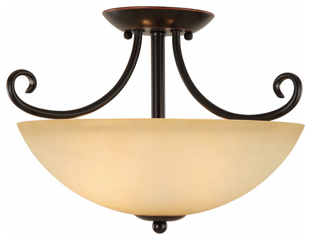 oil rubbed bronze semi-flush mount ceiling light fixture