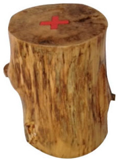 Tree Stump Stool Rustic Accent And Garden Stools By