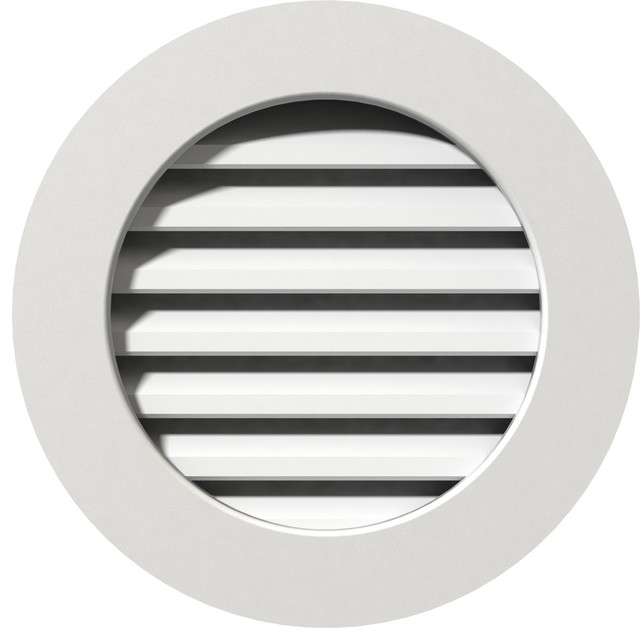 Round Pvc Gable Vent, 29w X 29h, Unfinished With 1 X 4 Flat Trim Frame.
