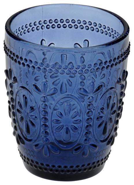 Set of 6 Savoie DOF Tumblers by Anton Studio Designs, Dark Blue