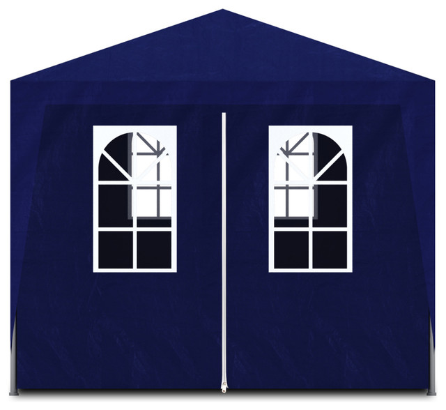 Vidaxl 10&x27;x20&x27; White Party Tent With 6 Walls, Blue.