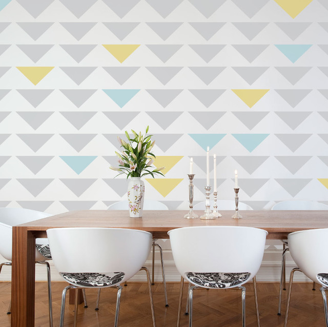 Geometric Triangle Wall Stencil Contemporary Wall