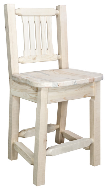 Brilliant Homestead Counter Height Bar Stool With Back Ready To Finish Alphanode Cool Chair Designs And Ideas Alphanodeonline
