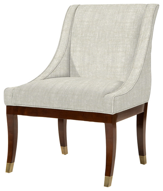 Kathy Kuo Home Gwinnett Fifties French Deco Fawn Linen