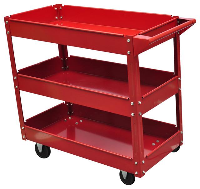 VidaXL Workshop Tool Trolley 100 kg 3-Shelf