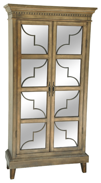 Wyndham 2-Door Wood and Veneer Glass Door Curio Cabinet ...