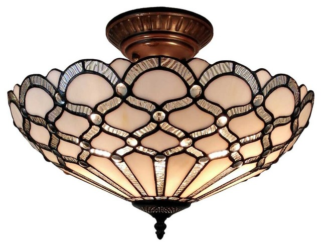 the latest cd1ca 1b5fd Amora Lighting AM108CL17 Tiffany Style Ceiling Fixture Lamp 17