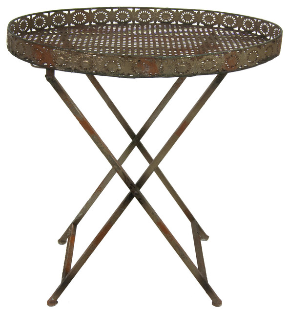 Good Decorative Rustic Garden Tea Table Rustic Outdoor Side Tables