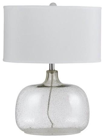 Cal Lighting BO 2262TB Christi 1 Light Clear Glass Table Lamp With 3 Way