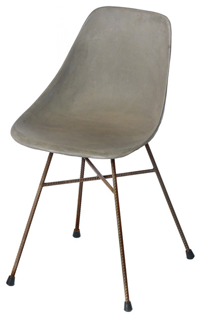 Hoboken Concrete Dining Chair Modern Outdoor Dining Chairs by CO9 DESIGN
