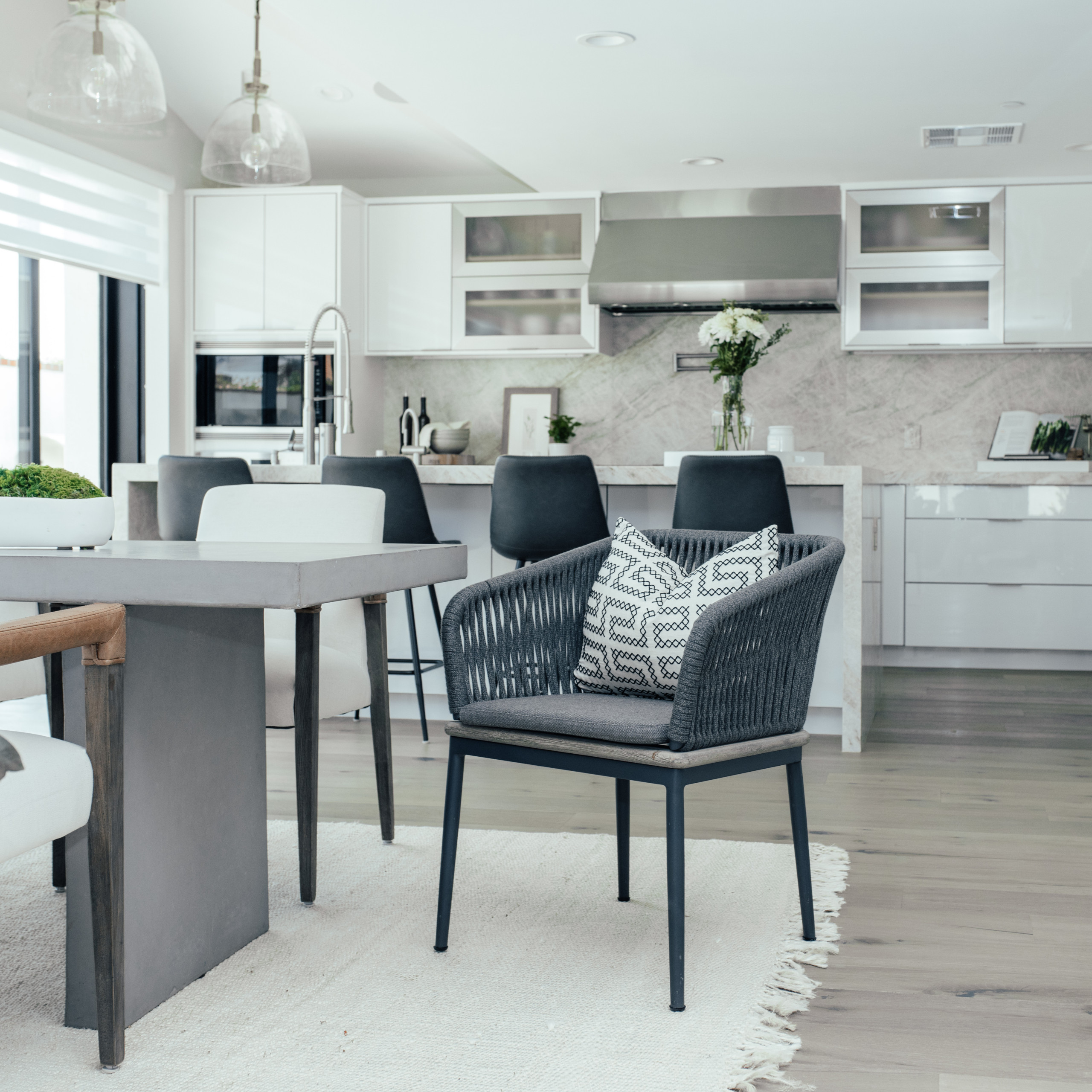 Modern Dining Room and Kitchen Design.