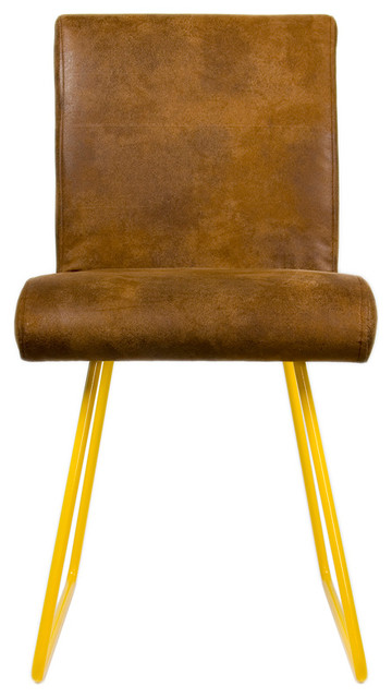 Enjoyable Faux Leather Upholstered Chair Yellow Gmtry Best Dining Table And Chair Ideas Images Gmtryco