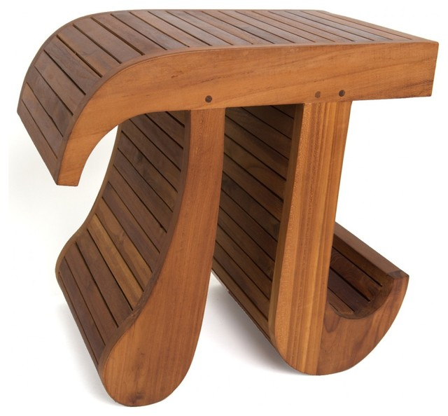 Aqua Teak - Solid Teak Pi Stool - View in Your Room! | Houzz