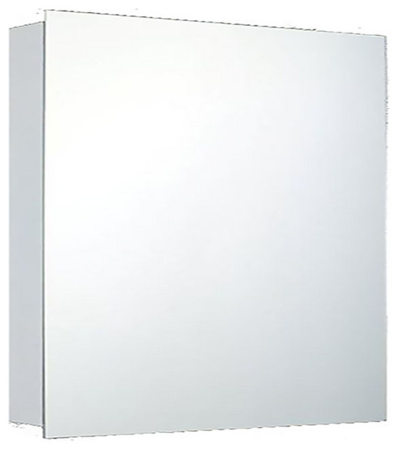 "Deluxe Series Medicine Cabinet, 24""x24"", Polished Edge, Surface Mounted"