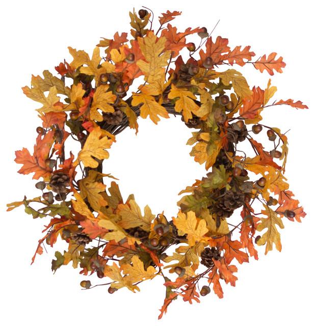 """Indian Summer Oak Wreath, 20""""."""